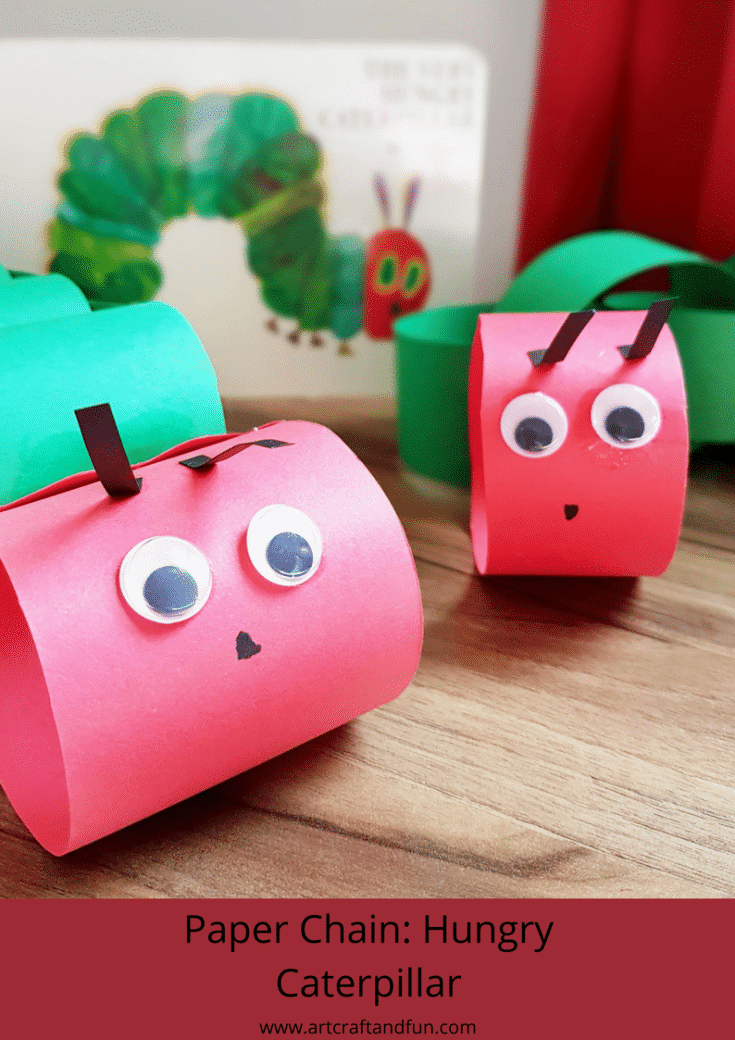 Easy to make hungry caterpillar craft for kids. #caterpillarcraft #ericcarlecraft #kidscraft