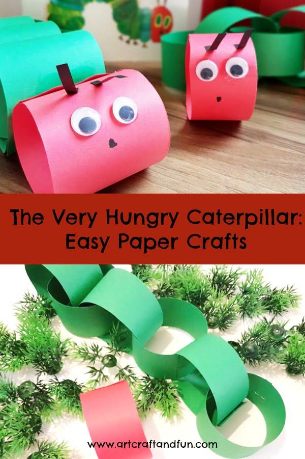 This Easy Paper Caterpillar Craft For Kids is perfect for preschoolers and kids of all ages. It a fun and exciting spring craft or when kids are learning about insects! Also accompanies well with the very famous book Very Hungry Caterpillar by Eric Carl, so an easy Eric Carl Craft as well!