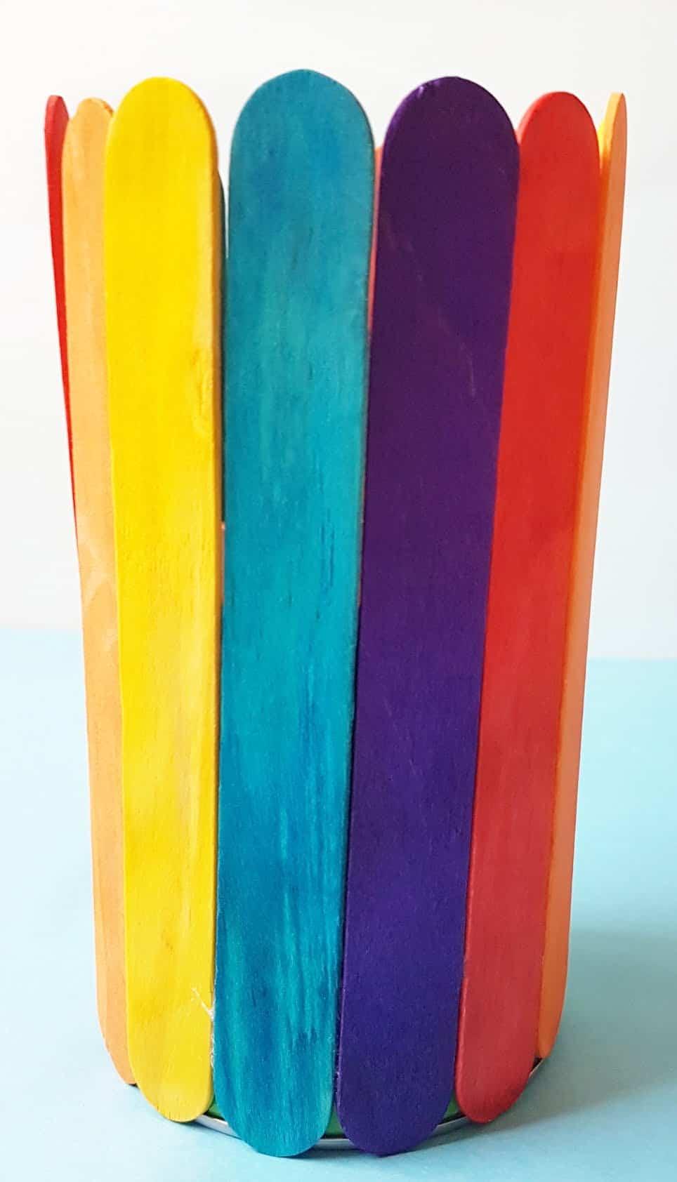 Rainbow Popsicle Vase 4
