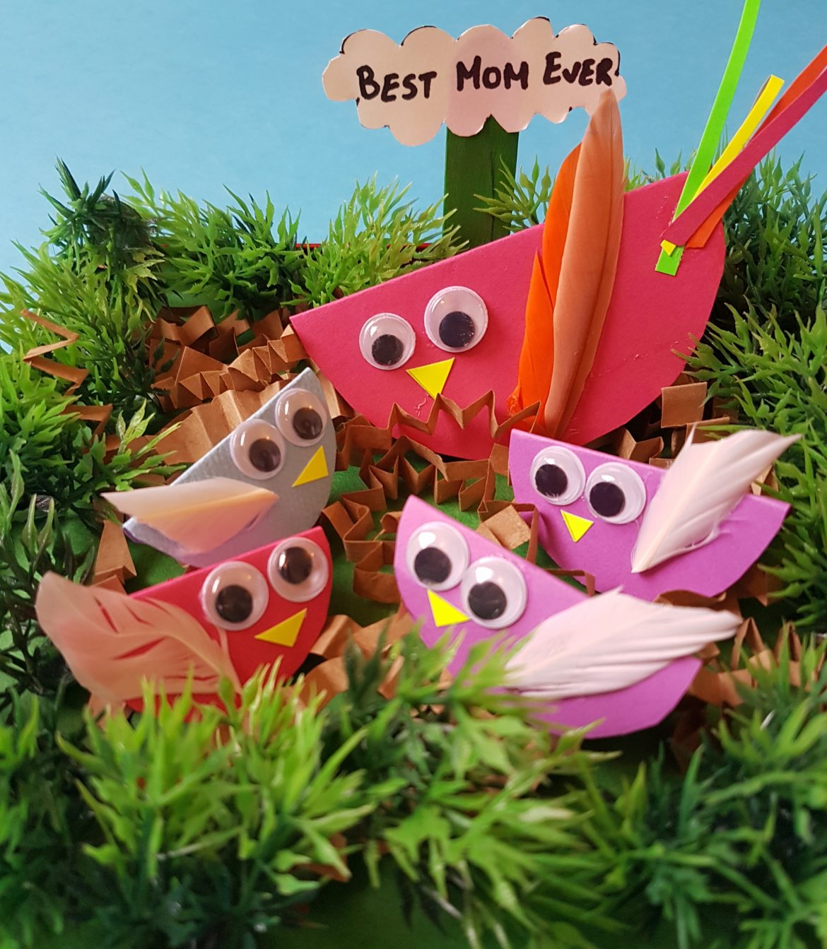 Mother's Day Special: Easy To Make Mommy Bird and her Chicks