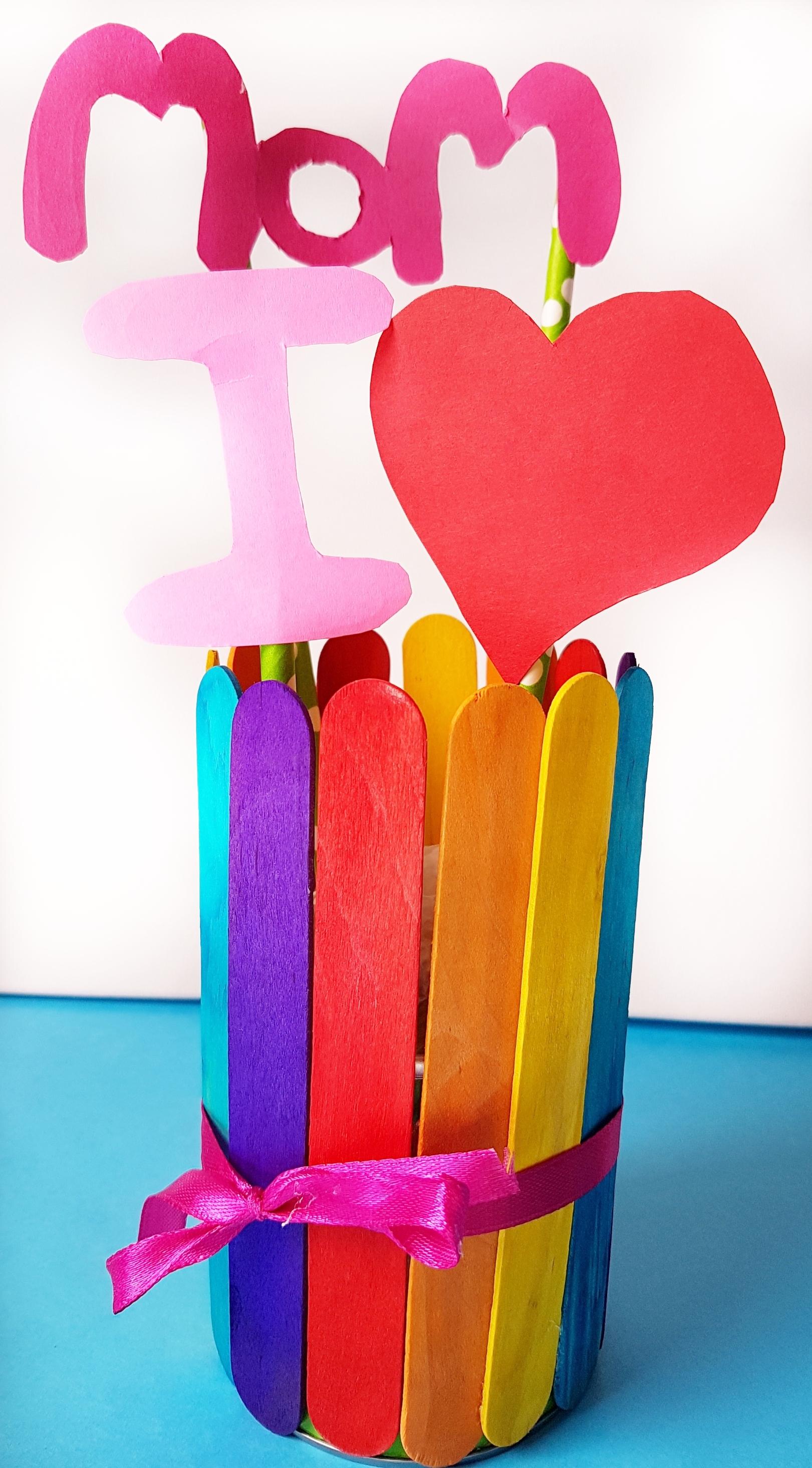 Rainbow Popsicle Vase 6