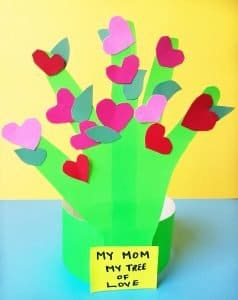 Easy to make Handprint Mother's Day Craft is perfect for Preschoolers and Toddlers. #handprintcraft #mothersdaycraft #preschoolcraft
