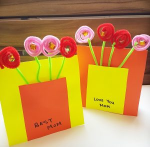 3D flower cards are perfect for mother's day craft. #mothersdaycraft #mothersdaycard #diymothersdaycard