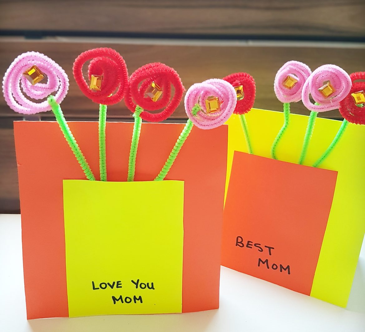 Mother's Day cards with 3D Flowers