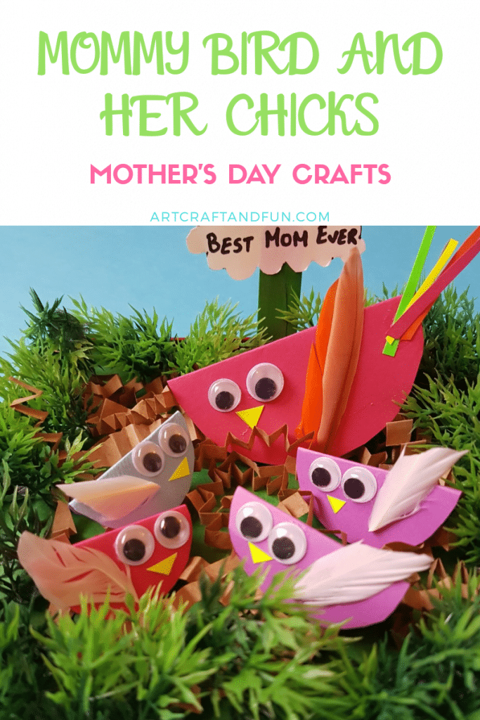 A perfect mother's day craft to make with toddlers. #mothersdaycraft #preschoolcraft #toddlercraft #birdcrafts