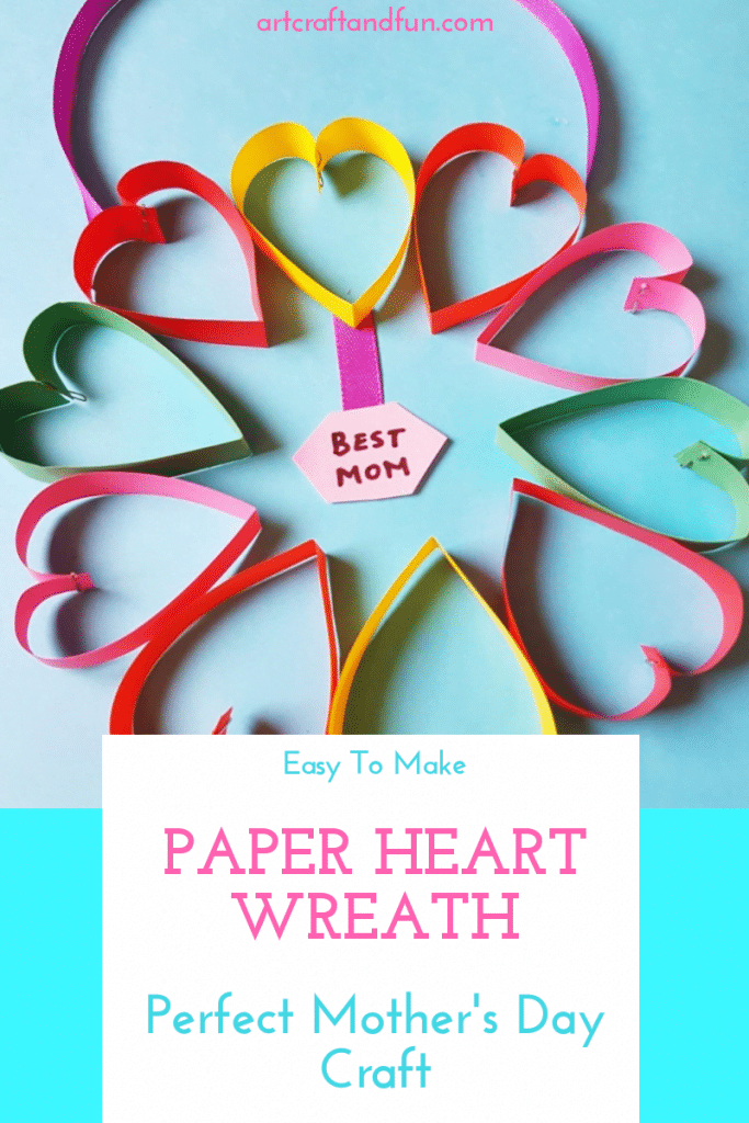 This super easy Paper Heart Mother's Day Craft is sure to melt any mom's heart! #mothersdaycraft #papercrafts #easycrafts