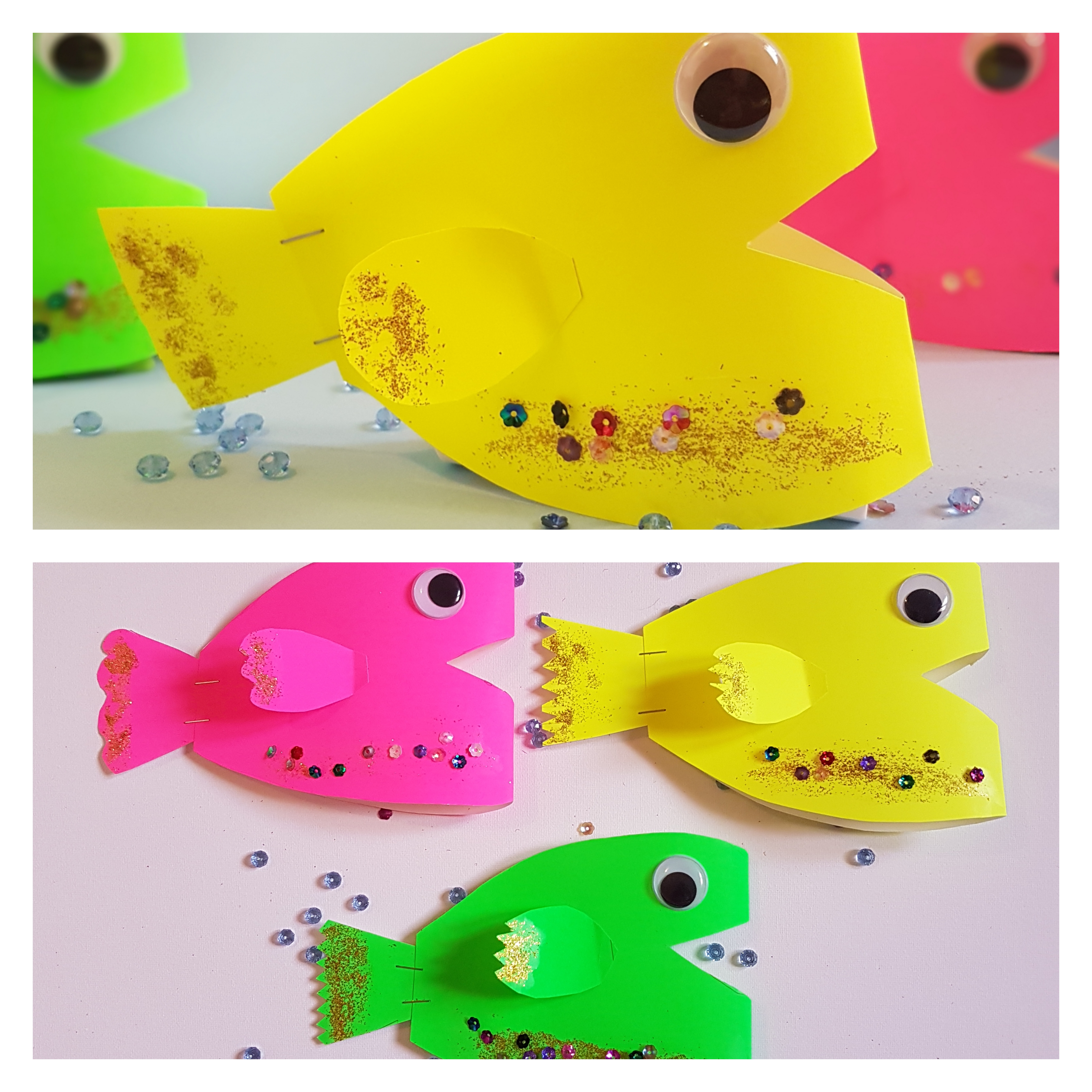 Construction paper fish craft 1