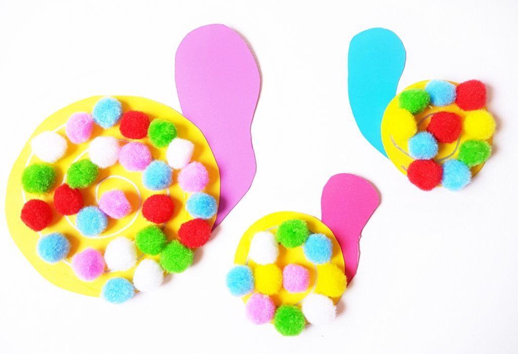 Pom pom snails craft 5