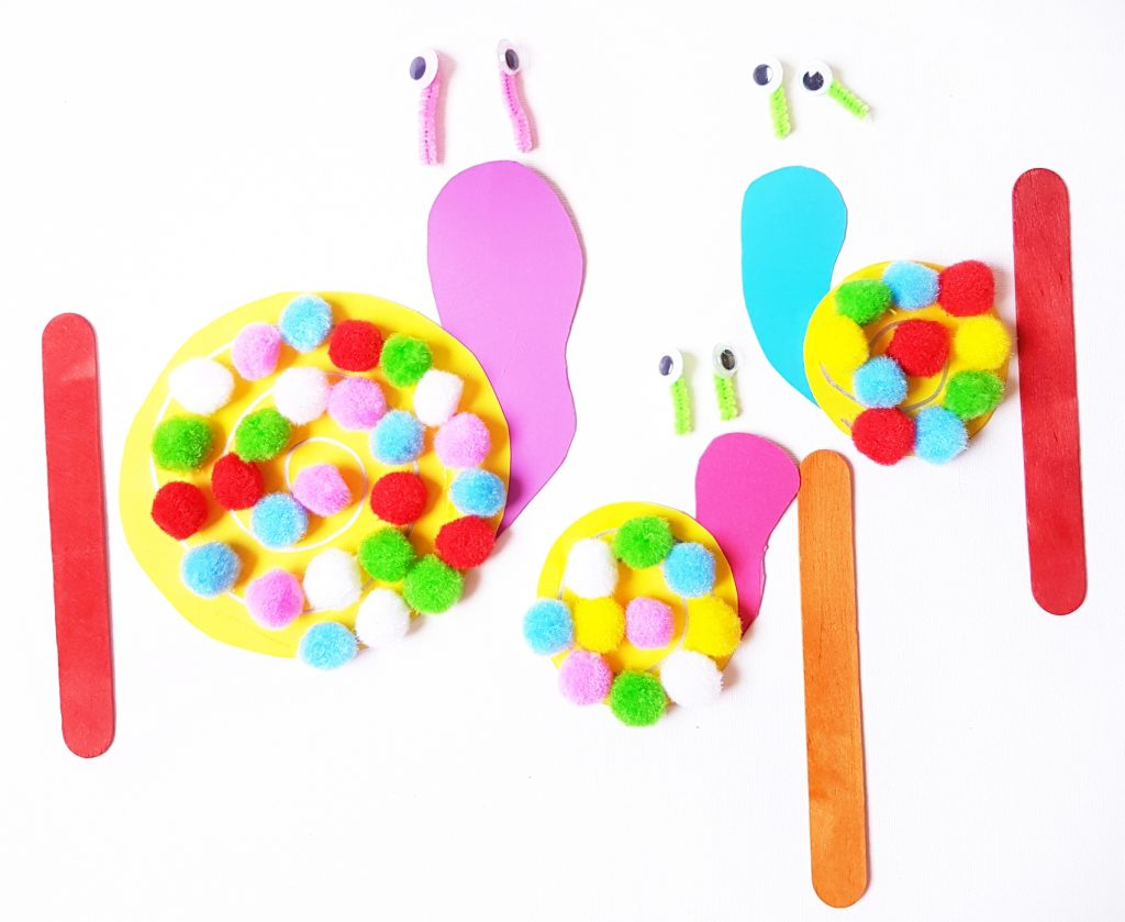 Pom pom snails craft 6