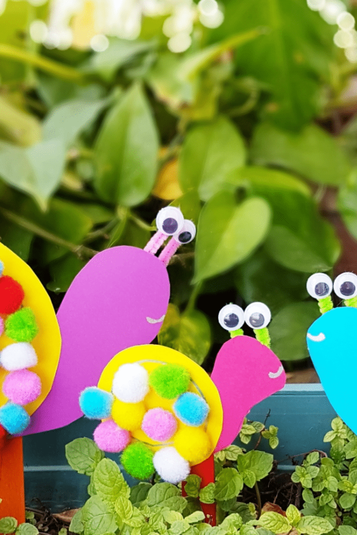 10 Min Easy Mother's Day Special: Pom Pom Snails Craft