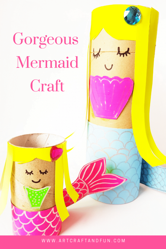 Mermaid craft pin