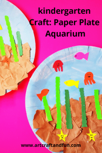 This Aquarium craft is perfect for Toddlers and Preschoolers. #oceancrafts #preschoolcraft #toddlercraft #paperplatecraft #aquariumcraft