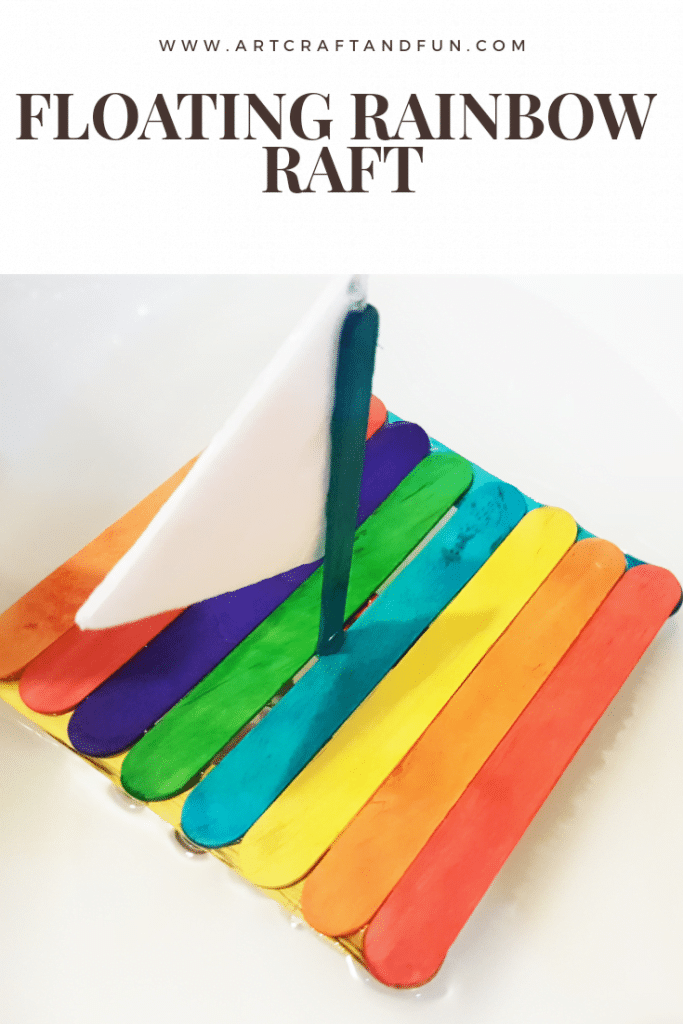 Floating Rainbow Popsicle Raft Craft