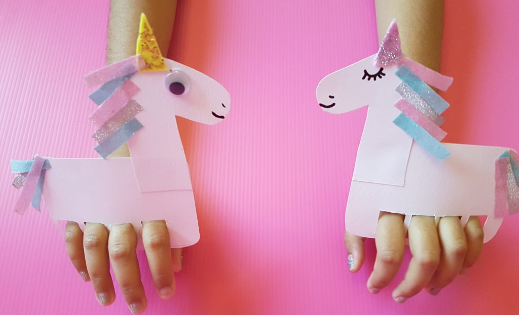 Finger puppet unicorn craft 1