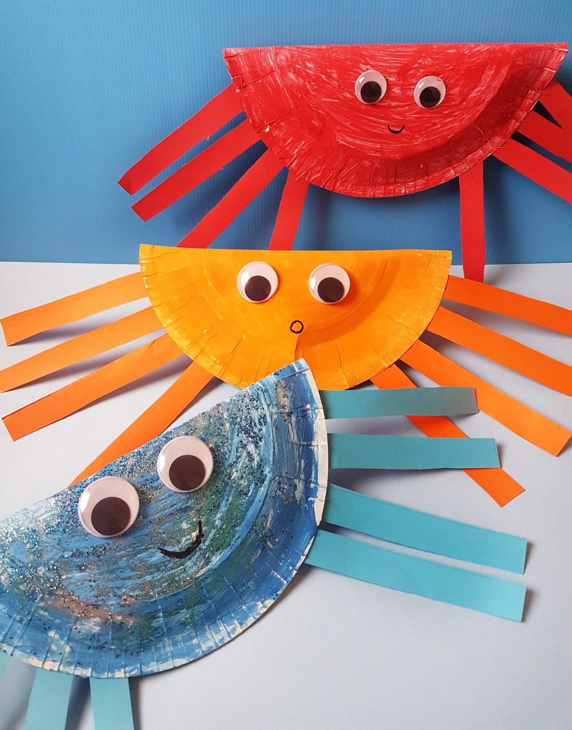 Toddler Craft: Paper Plate Crab Craft