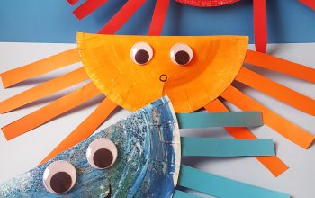 Paper plate crab craft 1