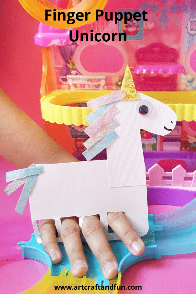 Finger puppet unicorn craft