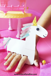 Make this Unicorn Craft Finger Puppet today! #unicornpapercraft #unicorncraft #easyunicorncraft