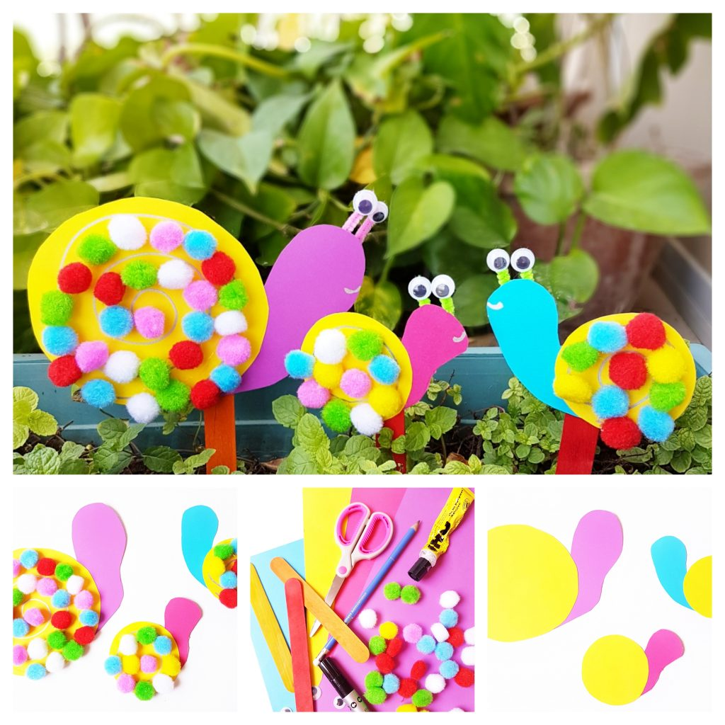 Pom pom snails craft 1