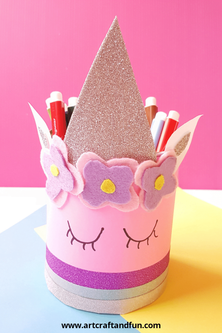 Magical Unicorn Pencil Holder Craft