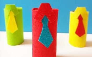 Make this super easy Father's Day Craft using paper roll. #fathersdaycraft #paperrollcraft