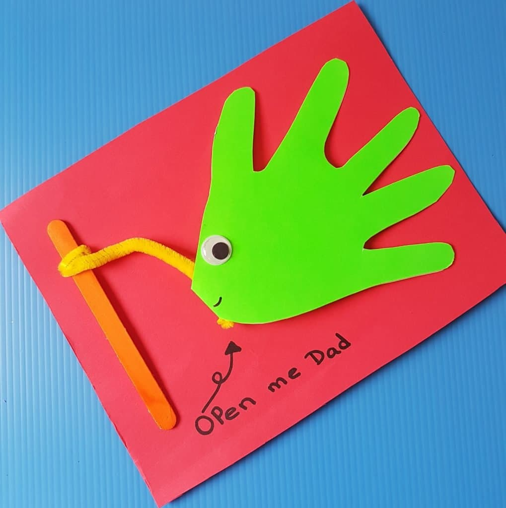 easy to make 3d hand print father's day card