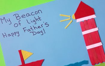 3D Father's Day Card Using Popsicle Sticks #fathersdaycard #fathersdaycraft #fathersdayactivity