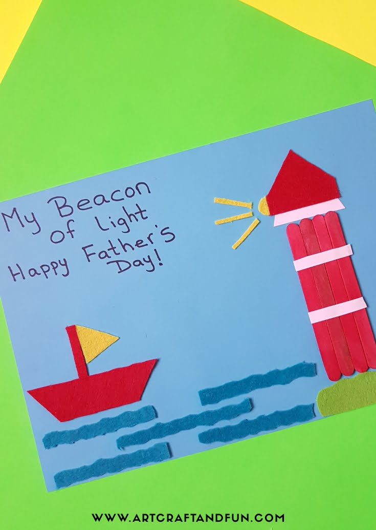 Fun Lighthouse Father's Day Card