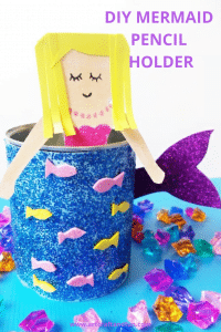 Make this adorable Mermaid Crafts for some fun. #mermaidcraft #backtoschoolcraft #funcraft #undertheseacraft #easycraft #undertheseacraft