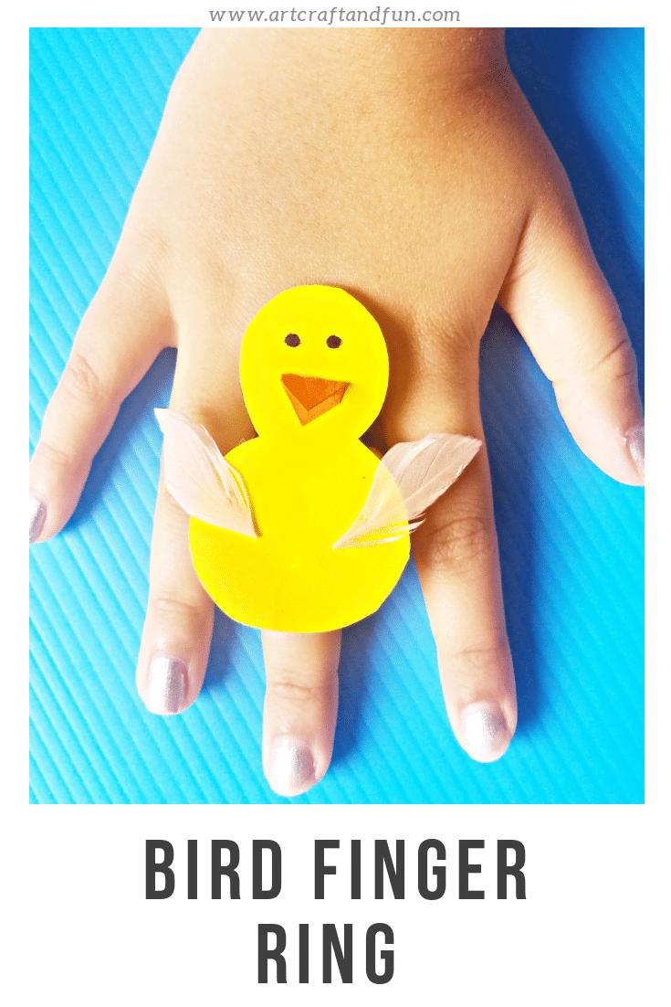 Baby Bird Craft For kids: Finger Ring