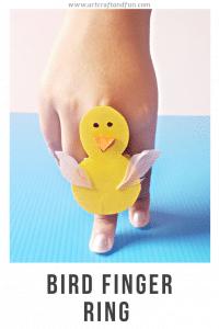 Bird craft for kids finger ring pin