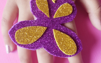 Fun Butterfly Craft Ring is a super easy craft to make with your kids today. It requires little effort and looks so pretty on tiny hands. Perfect craft for toddlers and older kids alike. #kidscraft #butterflycraft #butterflycraftring #eaycraft #funcraft #springcraft #summercraft