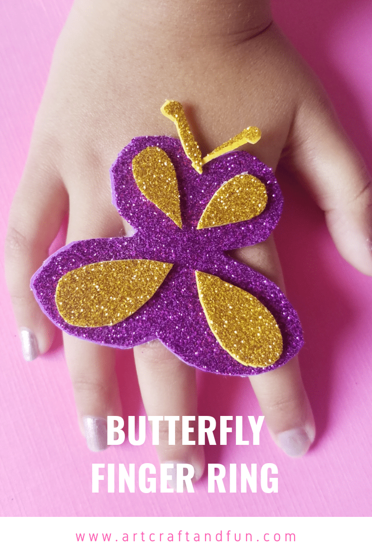 Fun Butterfly Craft Ring