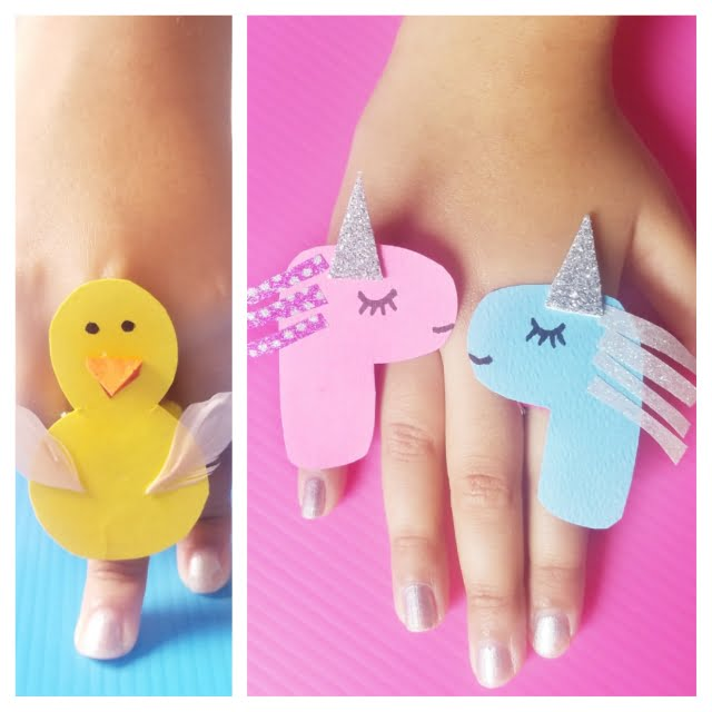 DIY Finger Ring Craft For Kids