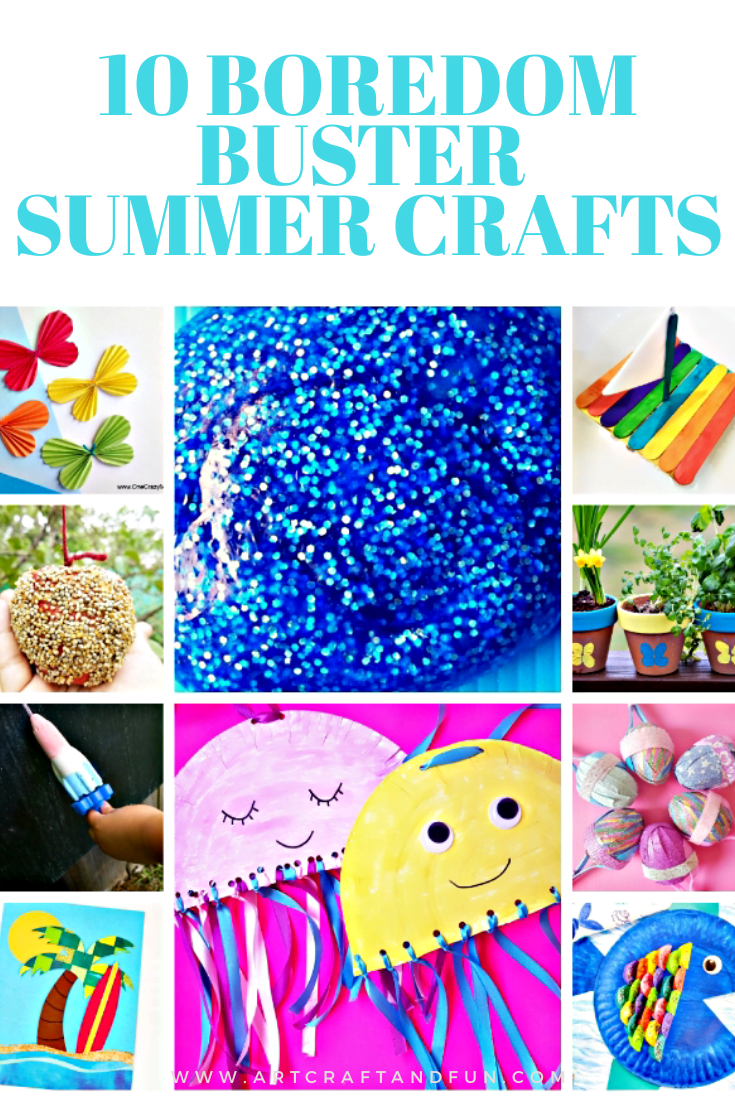 10 Easy Boredom Buster Summer Crafts For Kids