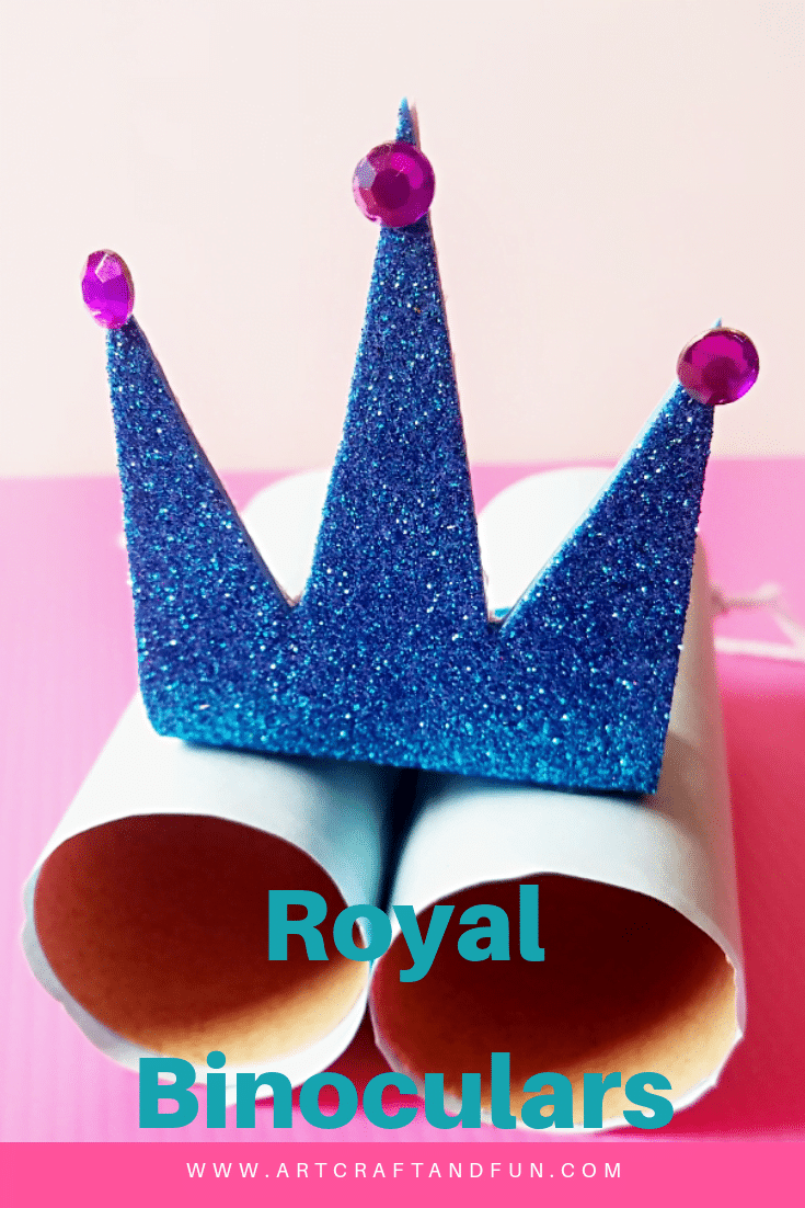 Make this gorgeous Royal Binoculars Craft for your kids today. Its the perfect paper roll craft ever. This easy craft will keep your little one entertained for hours. #binocularscraft #paperrollcrafts #kidscraft #easycrafts #funcrafts #royalcrafts #partcrafts #classroomcrafts