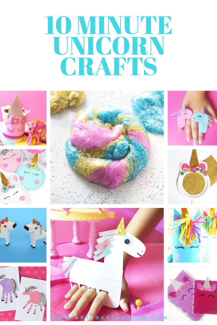 10 Minute Unicorn Crafts For Kids