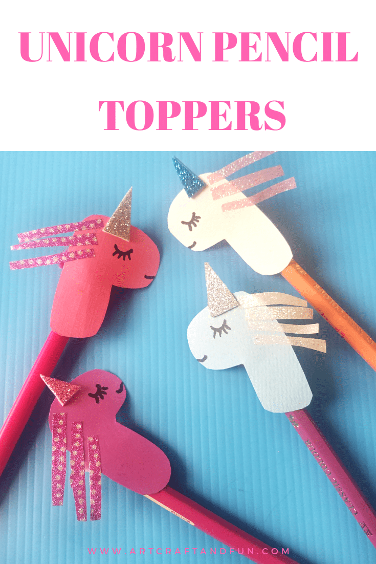 DIY Easy Unicorn Craft Pencil Topper