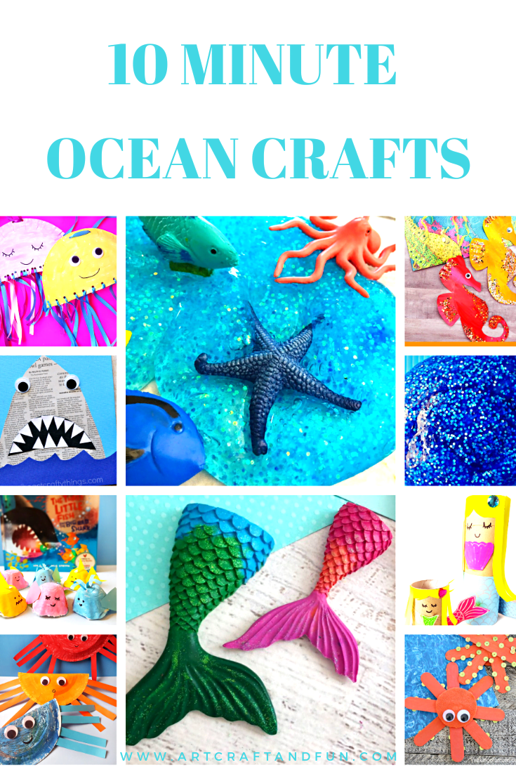 10 Minute Fun Ocean Crafts