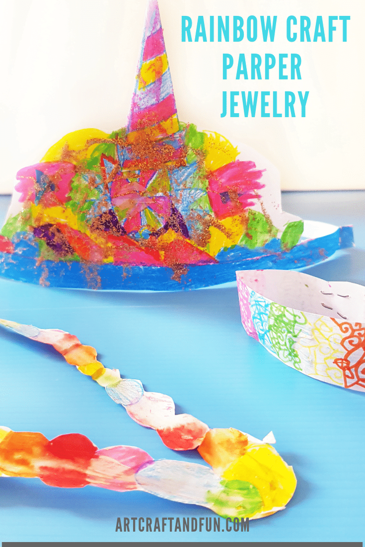 Rainbow Craft Paper Jewelry