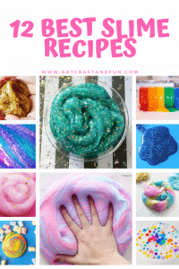 Make these awesome Slime recipes for unlimited fun #slime #slimerecipe #butterslime #slimewithcontactlensesolution #boraxslime #toothpasteslime #funslime #messyactivity