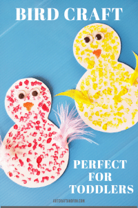 Make this adorable bird craft for toddlers today! #birdcraftfortoddlers #birdcrafts #birdcraftforpreschool #easybirdcraft #funbirdcraft #kidscraft #funcraftsfortoddlers