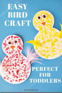 Make this adorable bird craft for toddlers today! #birdcraftfortoddlers #birdcrafts #birdcraftforpreschool #easybirdcraft #funbirdcraft #kidscraft #funcraftsfortoddlers