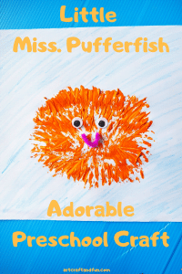 Out of ideas for keeping your little one busy! Try out this adorable Pufferfish Craft for your toddler right now! Just 3 supplies needed! #pufferfishcraft #pufferfishfortoddlers #oceancraft #preschoolcraft #toddlercraft