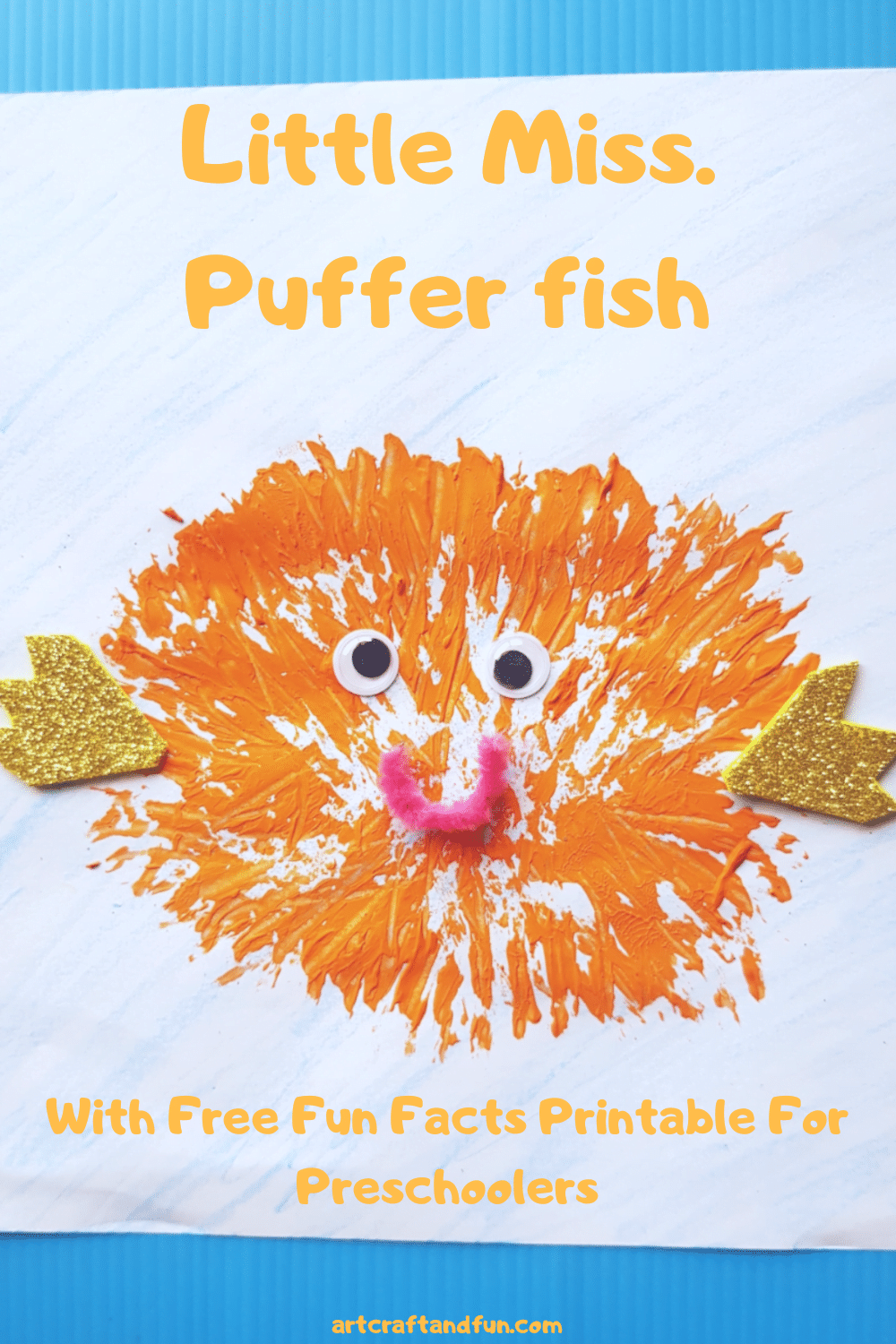 Adorable Pufferfish Craft For Toddlers