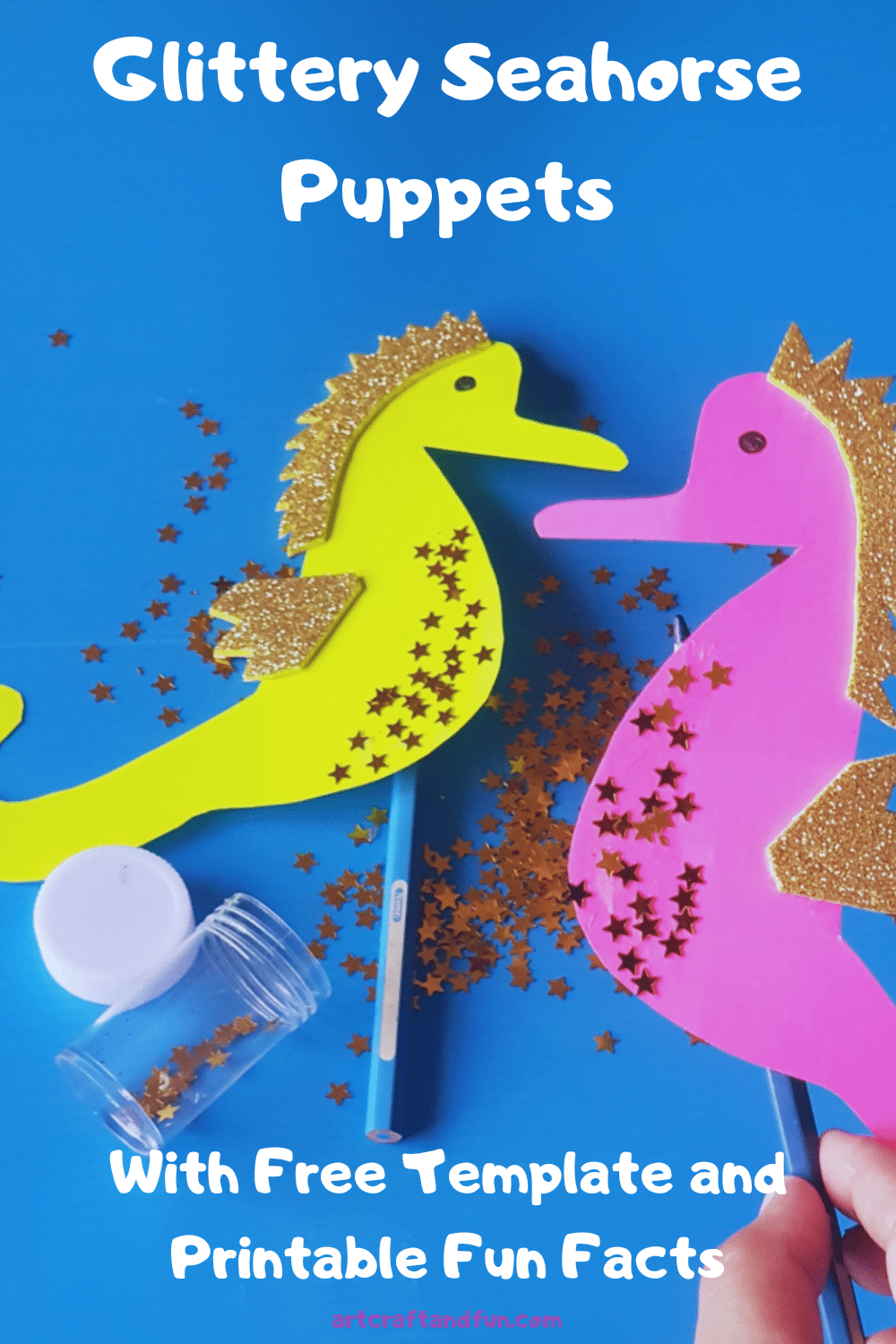 Make Glittery Seahorse Craft With Free Template And Printable Fun Facts Today