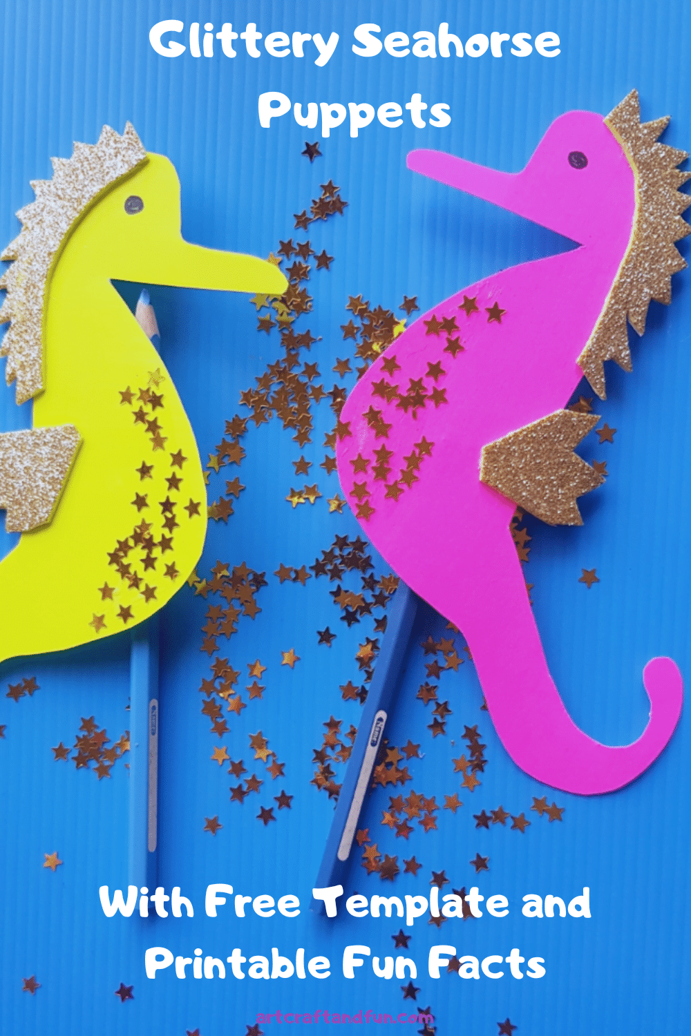Glittery Seahorse Craft For Kids