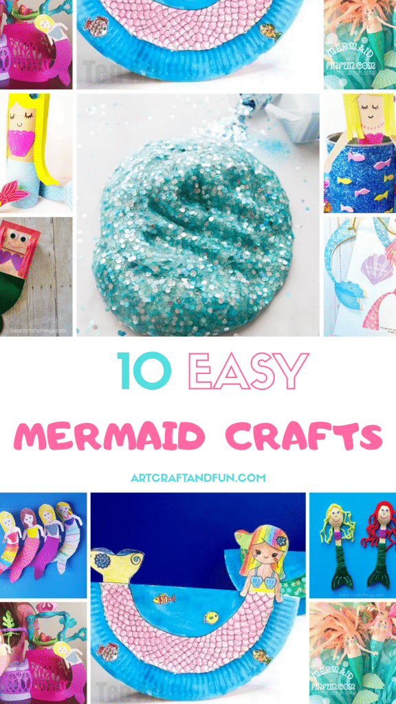 Make these fun and amazing mermaid crafts with your little ones today. This gorgeous collection of mermaid crafts is all that you need for some inspiration. #mermaidcrafts #oceancrafts #undertheseacrafts #easycrafts #funcrafts #girlcrafts