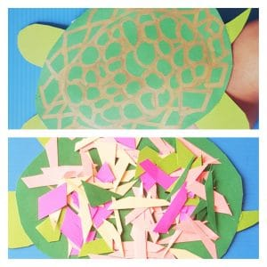 Make this adorable Turtle Craft for preschoolers. It can be turned into a hand puppet for pretend play! Printable fun facts and template included! #turtlecraft #turtlecraftfortoddlers #preschoolcraft #turtlefunfacts #freeprintable #oceancraft