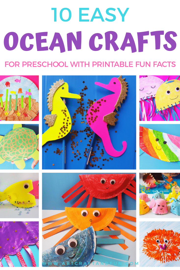10 Easy Ocean Crafts For Preschool With Printable Fun Facts